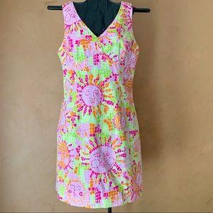 VTG Lilly Mosaic Sun Salute Anna Shift Dress 14